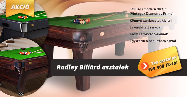 Radley biliárd asztalok